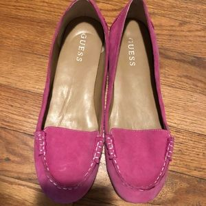 Guess Shoes - Guess hot pink slip on shoe never worn